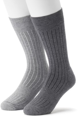 Marc Anthony Men's 2-pack Ribbed Performance Crew Socks