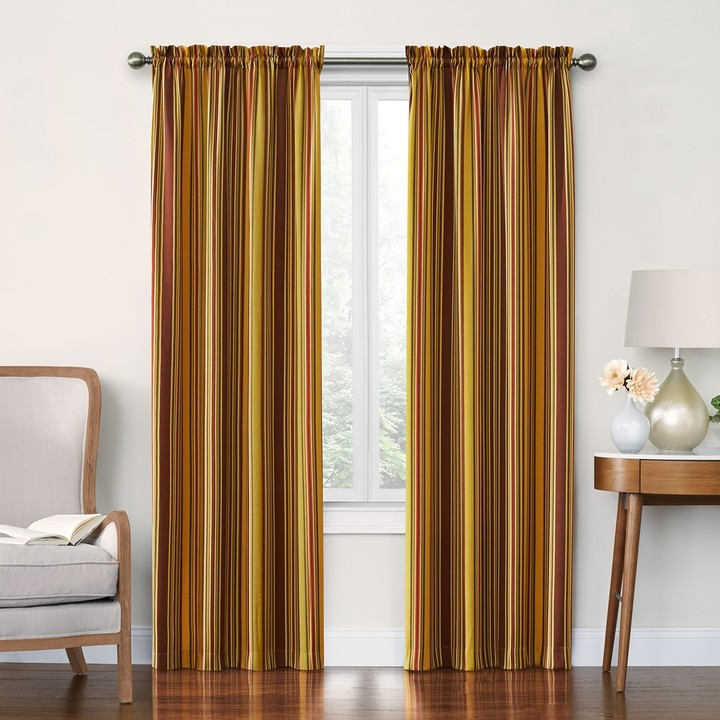Stellar Stripe Window Curtain Set