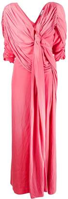 Lanvin pleated floor length gown