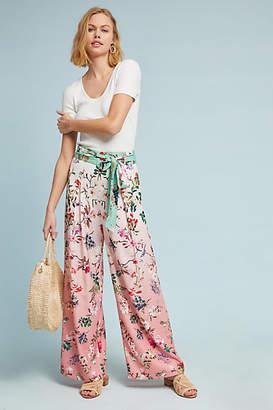Hemant & Nandita Ombre Floral Wide-Leg Pants