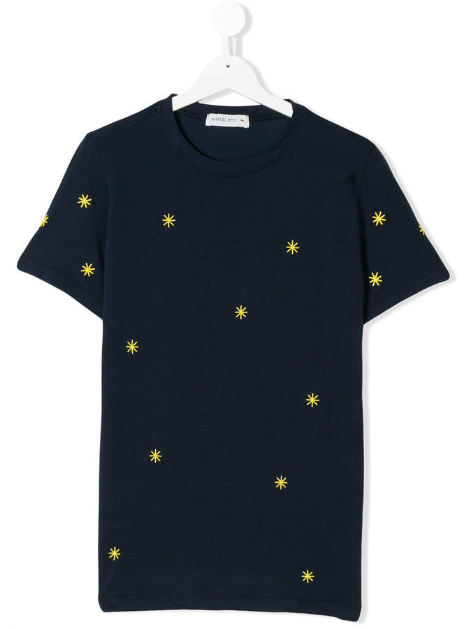 Manuel Ritz Kids star embroidered T-shirt