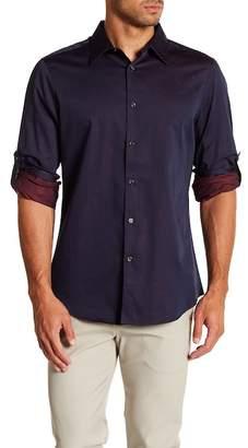 Perry Ellis Jacquard Slim Fit Shirt