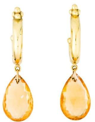 Temple St. Clair 18K Citrine Drop Earrings yellow 18K Citrine Drop Earrings