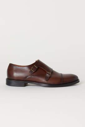 H&M Leather Monkstrap Shoes - Beige