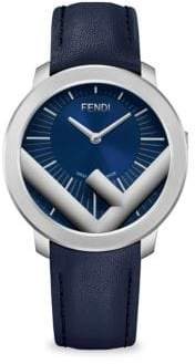 Fendi Run Away Leather-Strap Watch