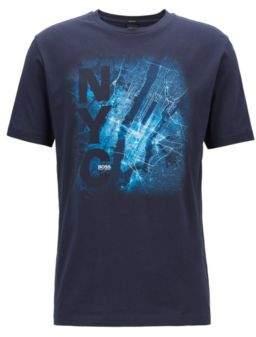 BOSS Hugo Limited edition Formula E T-shirt New York City print S Open Blue