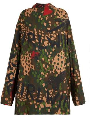 Vivienne Westwood Floral, Graffiti And Camouflage Print Tunic - Womens - Multi