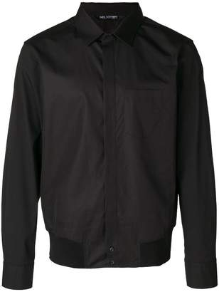 Neil Barrett ribbed hem shirt