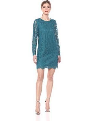 4bc0f85c8b Kensie Women s Winter Lace Long Sleeve Shift Dress