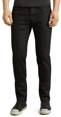 John Varvatos Bowery Slim Straight Fit Jeans in Jet Black