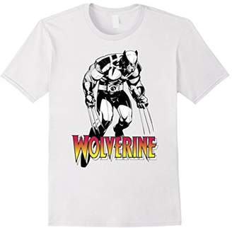 Marvel X-Men Wolverine Solo Shot Logo Stomp Graphic T-Shirt