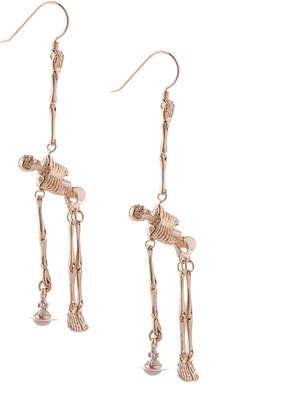Vivienne Westwood Skeleton Earrings Rose Gold