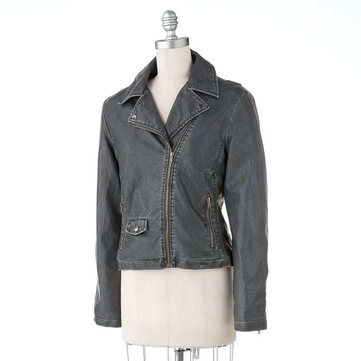 Excelled Faux-Leather Motorcycle Jacket
