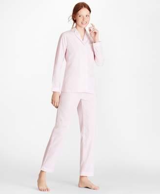 Brooks Brothers Mini-Check Cotton Poplin Pajama Set