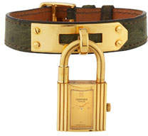 Hermes Estate Kelly Watch w/ Leather, Gold