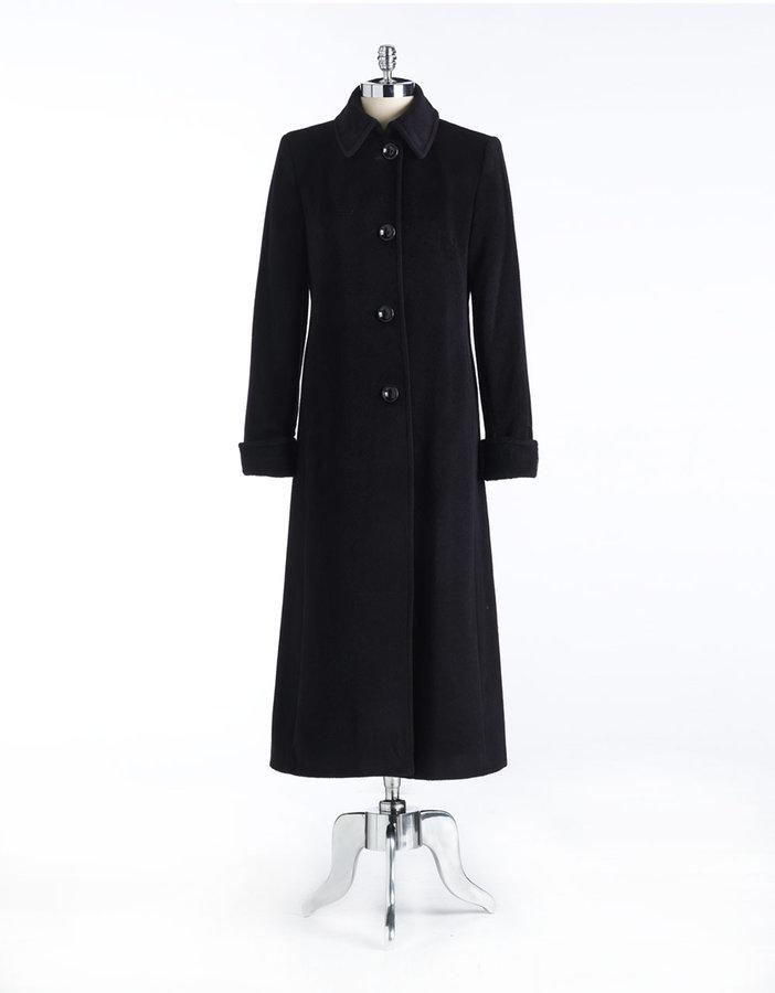 Jones New York Petites Wool-Blend Long Coat