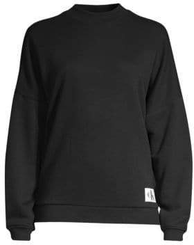 Calvin Klein Underwear (カルバン クライン アンダーウェア) - Calvin Klein Underwear Calvin Klein Underwear Women's Long Sleeve Sweatshirt - Black - Size Large