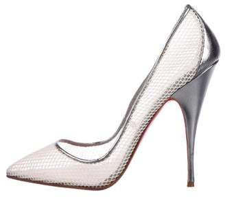 87a60ed4f3a Christian Louboutin White Pointed Toe Pumps - ShopStyle