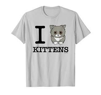I Love Kittens T-Shirt. Cute Kitty Kitten Lovers Unite!