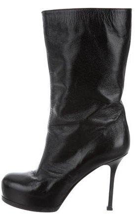 Saint LaurentYves Saint Laurent Mid-Calf Leather Boots