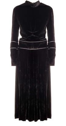 Genny Black Velvet Midi Dress