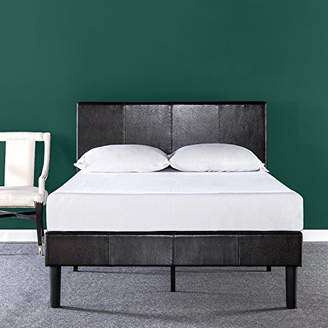 Zinus Deluxe Faux Leather Upholstered Platform Bed with Wooden Slats