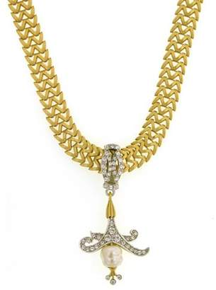 Couture Antiquities Art Deco Crystal Pendant Necklace Choker