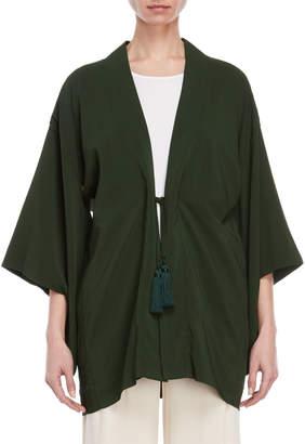 Liviana Conti Three-Quarter Sleeve Robe Jacket