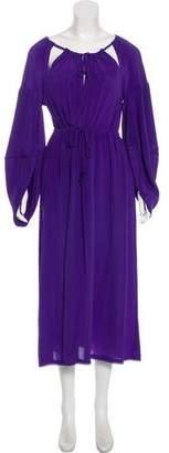 Fendi Silk Cutout Dress