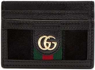 Gucci Ophidia leather and suede cardholder