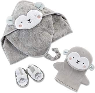 Baby Aspen Monkey Bath Set, 3 Piece
