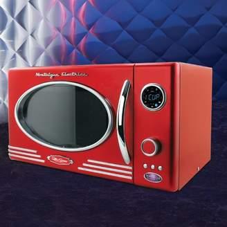 Nostalgia Electrics Retro Series 0.9 CF Microwave Oven in Red