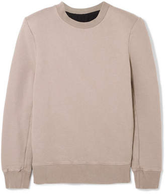 Unravel Project Cotton-terry Sweatshirt - Gray