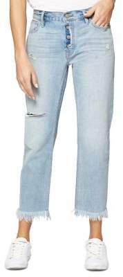 Sanctuary Olivia Straight Boyfriend Frayed-Hem Jeans