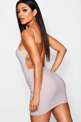 boohoo Low Scoop Back Bodycon Dress