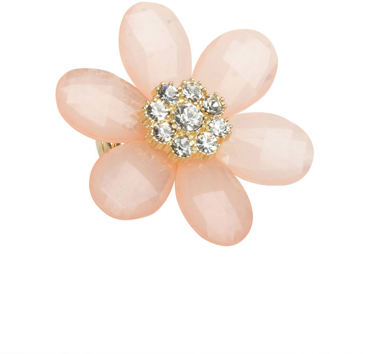 Frosted Facet Flower Ring