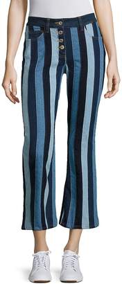 Tommy Hilfiger Women's Patchwork Cropped Flared Pants