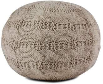 Brikk Os Hand-Knit Wool Pouf