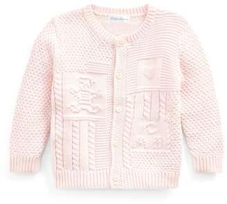 Ralph Lauren Contrast-Knit Cotton Cardigan