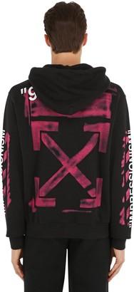 Off-White Printed Arrow Cotton Sweatshirt Hoodie