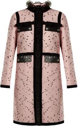 Giambattista Valli Velvet-trimmed bouclé tweed coat