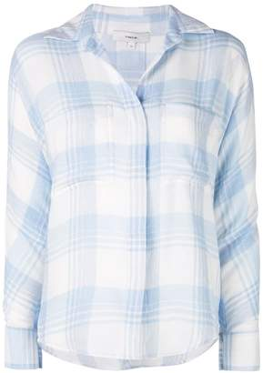 Vince concealed fastened plaid shirt