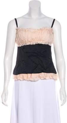 Dolce & Gabbana Sleeveless Silk Top w/ Tags