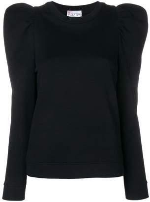 RED Valentino puff shoulder sweatshirt