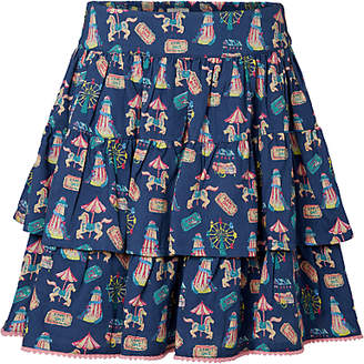 Fat Face Girls' Fun Fair Ra Ra Skirt, Blue