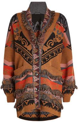 Etro Printed Wool Coatigan