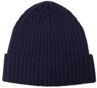 Officine Générale - Ribbed Knit Cashmere Beanie Hat - Mens - Navy