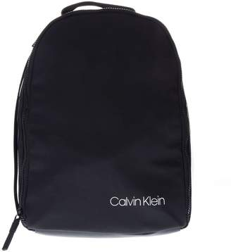 Calvin Klein Unisex Black Faux Leather Backpack