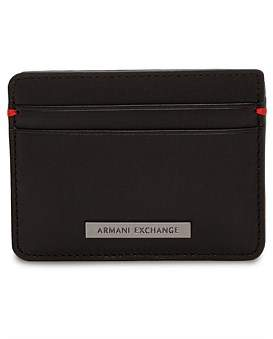 Armani Exchange Leather Card Case