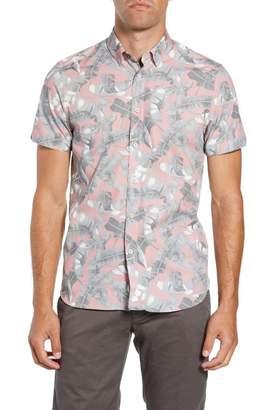 ef09d7bd6 Ted Baker Samseys Slim Fit Leaf Print Sport Shirt